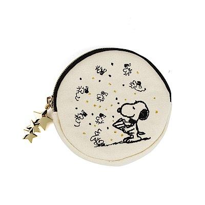 SHO-BI SNOOPY彩色派對系列圓形小物收納包(黑) @ Y!購物