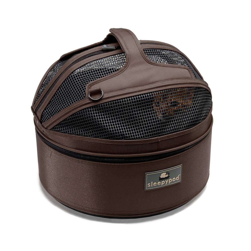 Sleepypod 寵物旅者家旅雙用圓筒包-棕