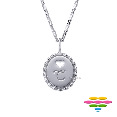 彩糖鑽工坊 K金項鍊 字母C項鍊 (2選1)