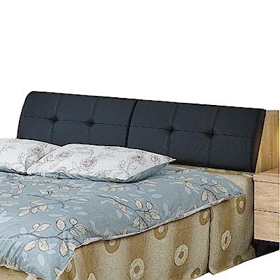 品家居 克莉斯6尺耐磨皮革雙人加大床頭箱-182x33x85cm免組