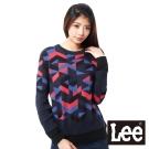 Lee 長袖毛衣 幾何色塊圖形-女款(深藍)