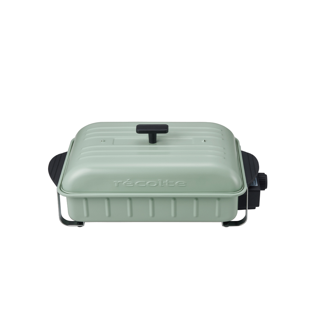recolte日本麗克特 Home BBQ 電燒烤盤RBQ-1(限定款)-貝殼綠