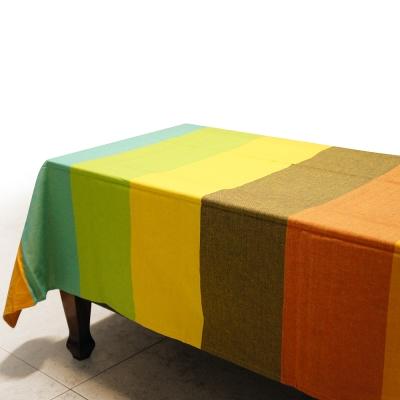 布安於室-色塊純棉桌巾-混色