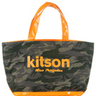 kitson 迷彩帆布托特包   ORANGE