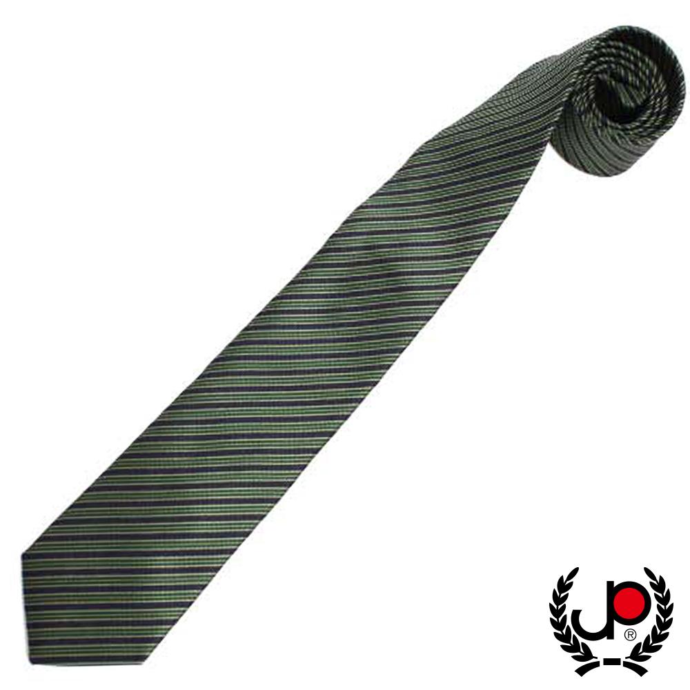 極品西服- 典雅綠紋絲質領帶-綠 (YT0091)