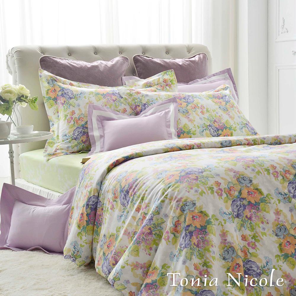 Tonia Nicole東妮寢飾 希拉瑞莉環保印染精梳棉兩用被床包組(雙人)
