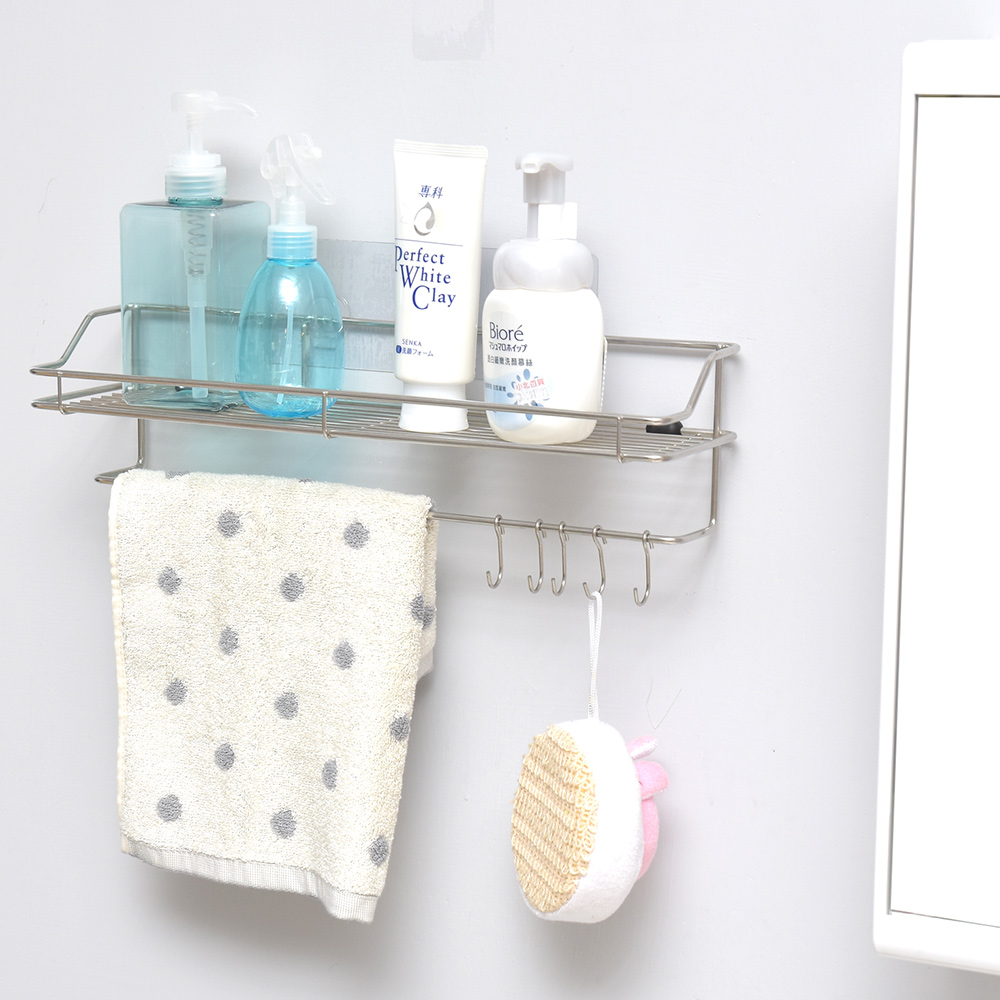 完美主義 瓶罐架/毛巾架/浴室收納/微透貼面-39x11x10