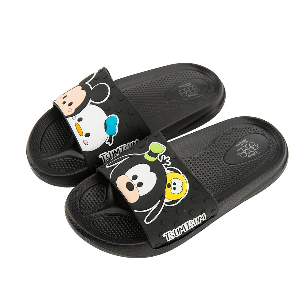 迪士尼童鞋 TsumTsum 米奇 立體防水拖鞋-黑