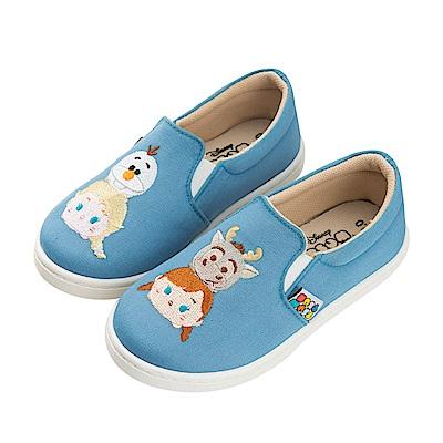 迪士尼童鞋 TsumTsum 冰雪奇緣 休閒鞋 便鞋-藍