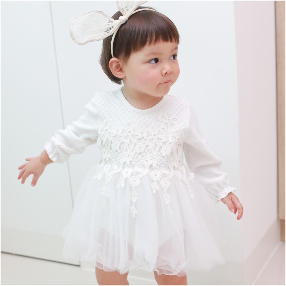 baby童衣公主袖蕾絲包屁紗裙70126