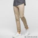GIORDANO男裝素色彈力棉四層腰頭休閒褲-18 簡褐色