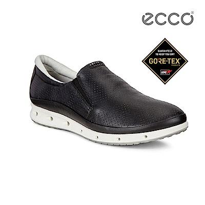 ECCO COOL 360度環繞防水休閒運動鞋-黑