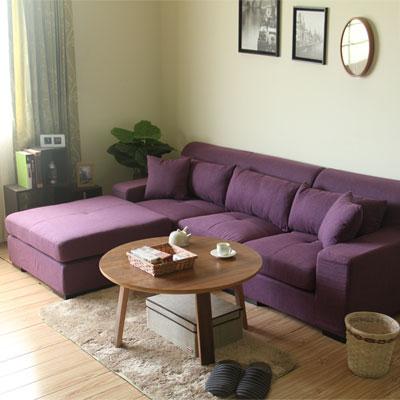 YKSHOUSE-樂和居L型獨立筒布沙發組-二色可選