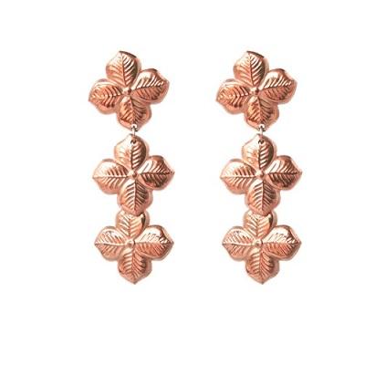 Anna Lou OF LONDON 倫敦品牌 優雅風信子hyacinth花朵玫瑰金耳環