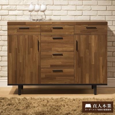 日本直人木業傢俱-工業生活120CM廚櫃-(120x40x88cm)免組