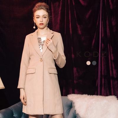 東京著衣-KODZ 歐美氣質修身質感大衣外套-S.M.L(共二色)