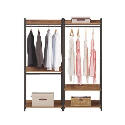 Boden-諾德5.3尺開放式組合衣櫃(雙吊+單桿)-160x44x191cm