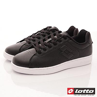 Lotto樂得-1973經典網球鞋-SI660黑(男段)