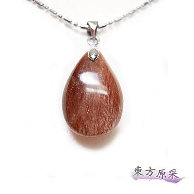 東方原采-招好運紅髮晶水滴項鍊