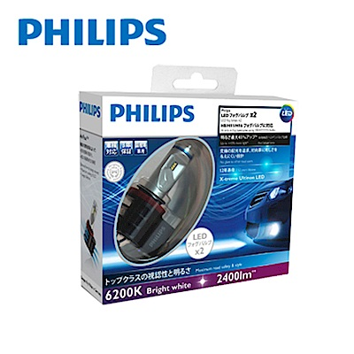 PHILIPS 飛利浦 超晶亮LED霧燈6200K白光(H8/H11/H16)公司貨