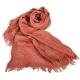 ARMANI COLLEZIONI 經典格紋皺褶圍巾-磚橘色 product thumbnail 1