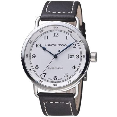 HAMILTON KHAKI NAVY系列先鋒80小時機械腕錶 H7771555-43mm