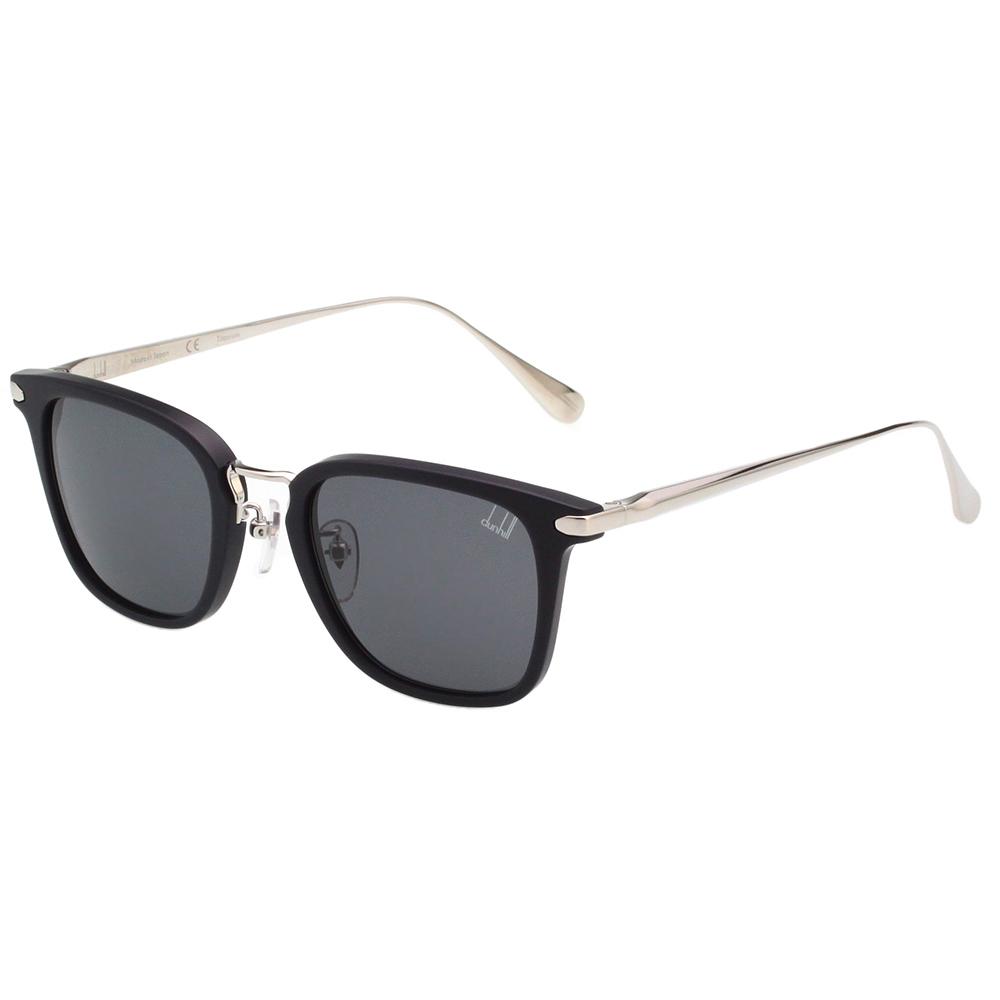 Dunhill  純鈦日本製 太陽眼鏡 (霧面黑+銀)SDH043