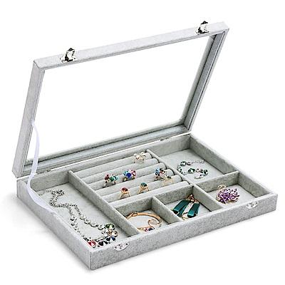 梨花HaNA 超強收納六合一冰花絨飾品收納盒/珠寶箱展示櫃