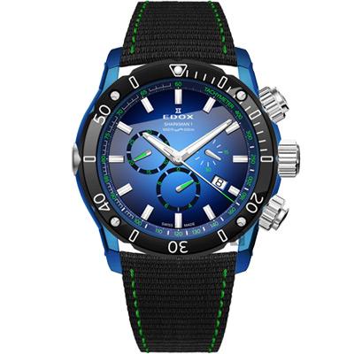 EDOX Sharkman I Limited Edition 潛水計時腕錶- 46 mm