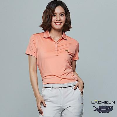 【LACHELN】Coolmax彈性百搭POLO衫-淺橘(L62W909)