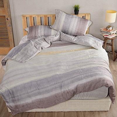 夢工場 風送歡悅天絲頂規款兩用被鋪棉床包組-雙人