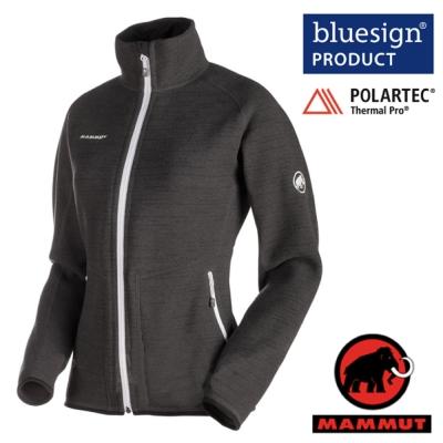【MAMMUT 長毛象】女 Arctic Jacket 透氣抗菌保暖刷毛外套_石墨灰