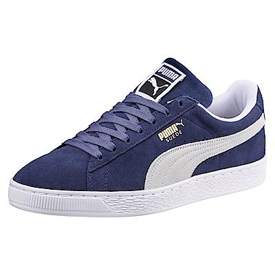 PUMA-SuedeClassic男女籃球鞋-靛藍