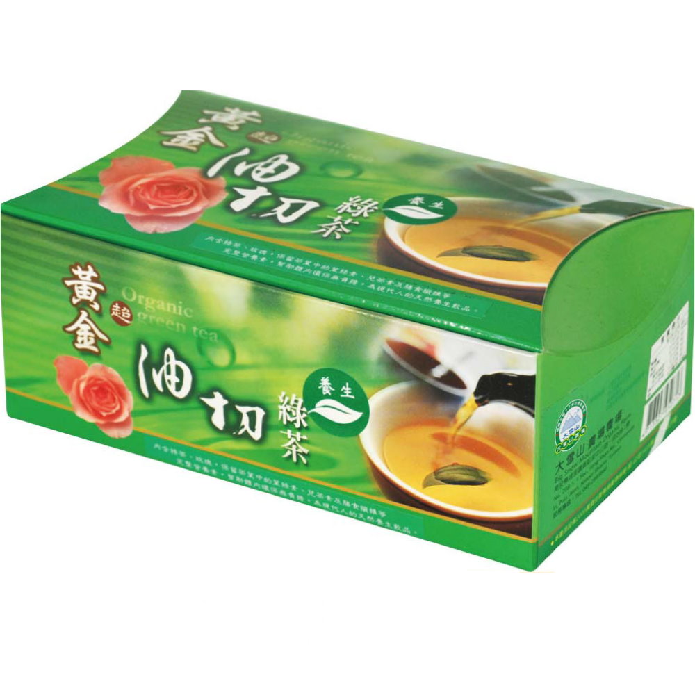 大雪山農場 黃金油切綠茶(10小包x5盒)