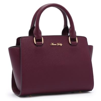 ANNA DOLLY 法氛甜樣Trendy小莫莉包 藏紅紫