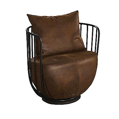 品家居 瑟海特仿舊布沙發椅單人座-71x59x67cm免組