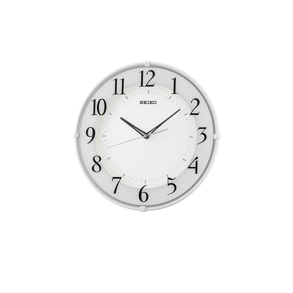 SEIKO 日本精工 滑動式秒針 窄邊框 靜音掛鐘(QXA689W)-白/32cm