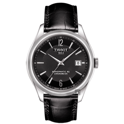 TISSOT天梭 Ballade COSC 80小時矽游絲機械腕錶-黑/41mm