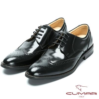 CUMAR 核心氣墊專利 - 英式牛津款皮鞋-黑