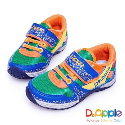 Dr. Apple 機能童鞋 歡樂巧克力米繽紛休閒童鞋款 藍