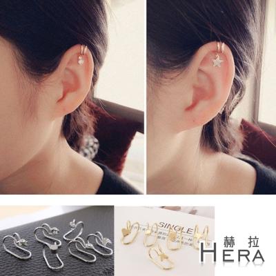 Hera-赫拉-雙線造型無耳洞耳骨夾-雙色入組-5款