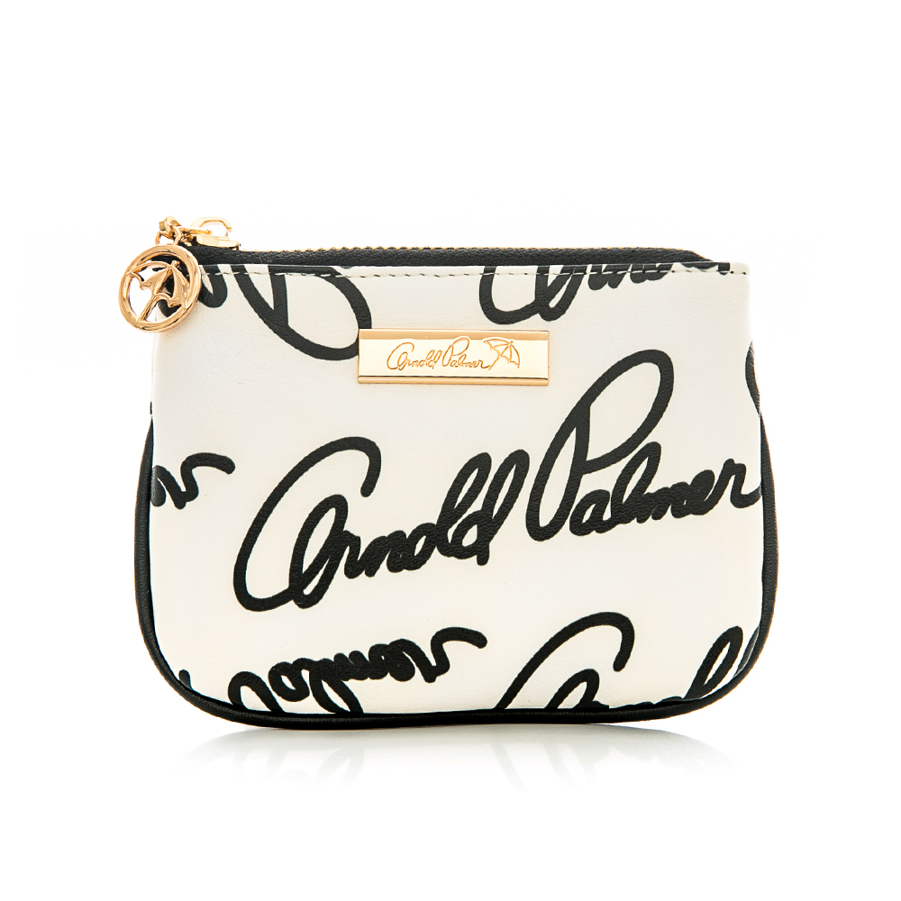 Arnold Palmer- 零錢包 Graffiti 黑白塗鴉系列-黑白