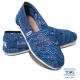 TOMS 經典蕾絲懶人鞋-女款(藍)