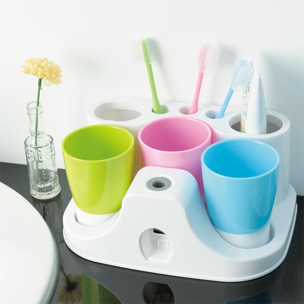 IKLOO宜酷屋_懶人擠牙膏器&牙刷杯架組