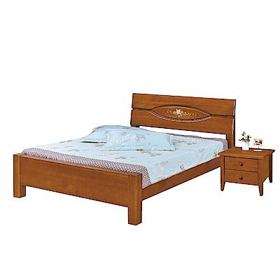 品家居 琪拉6尺實木雙人加大床片床架組合(不含床墊&床頭櫃)-187x206x98cm免組