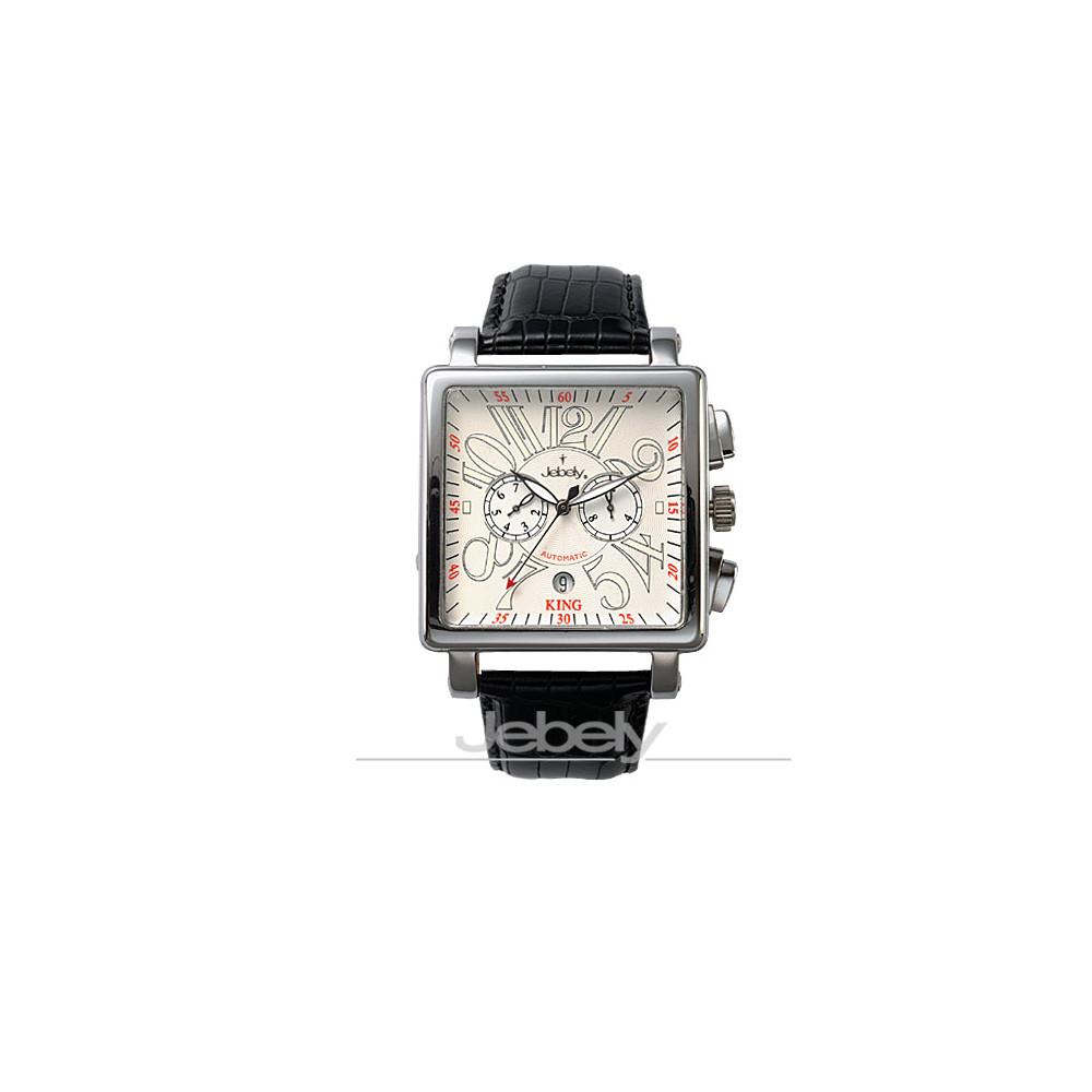 Jebely瑞士機械錶_萊茵河之戀系列_珍愛一世雙眼造型錶-白/38mm