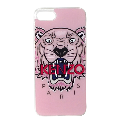 KENZO 3D立體彩繪虎頭 I Phone 7(4.7吋) 軟膠手機殼 粉紅