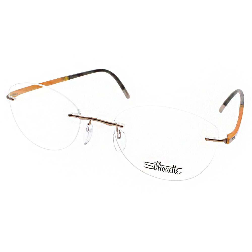 Silhouette詩樂眼鏡 極致無框款/黃-黑#ST4522 C6056