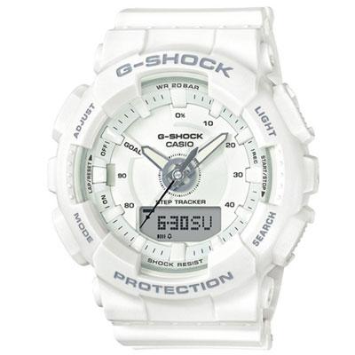 G-SHOCK 超人氣指針數位雙顯錶款(GMA-S130-7A)-白/47mm