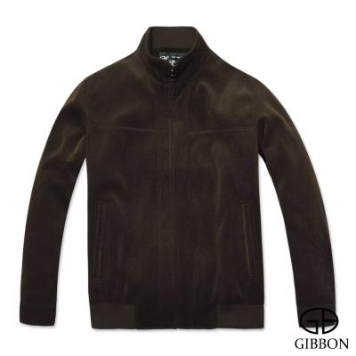 GIBBON 保暖外套仿羊絨款‧深棕色